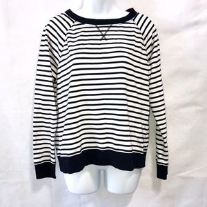 Studio Works Striped Sweater White/Blue PL